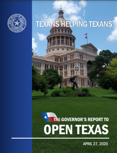 Cover image of The Governor's Report to Open Texas