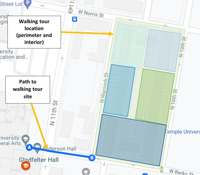 Screen capture of Google Maps walking tour