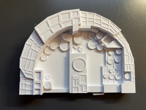 3D printed model of a house in Chaco Canyon.